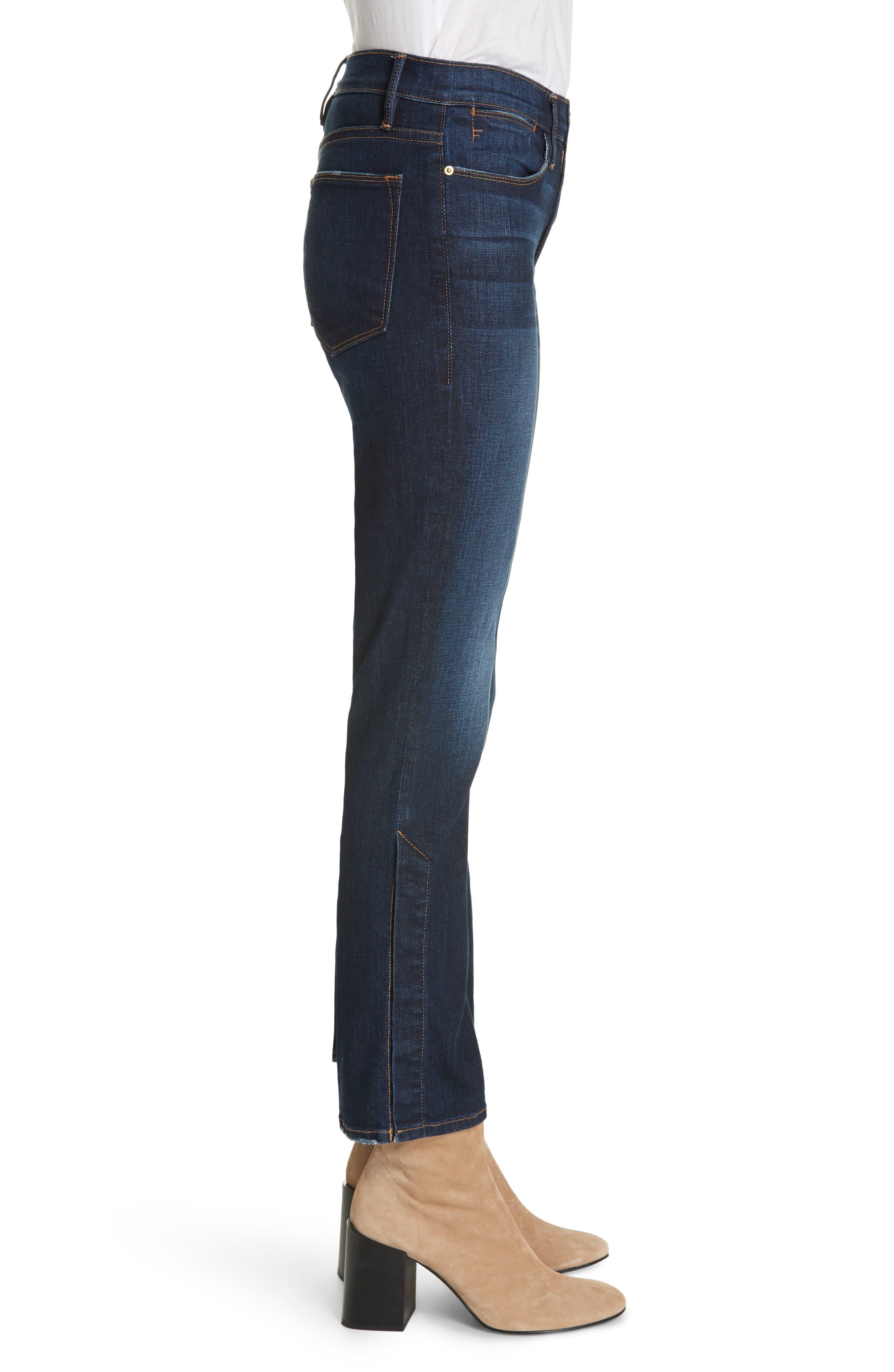 ,                             Le High Straight Snap Away Hem Jeans,                             Alternate thumbnail 4, color,                             401