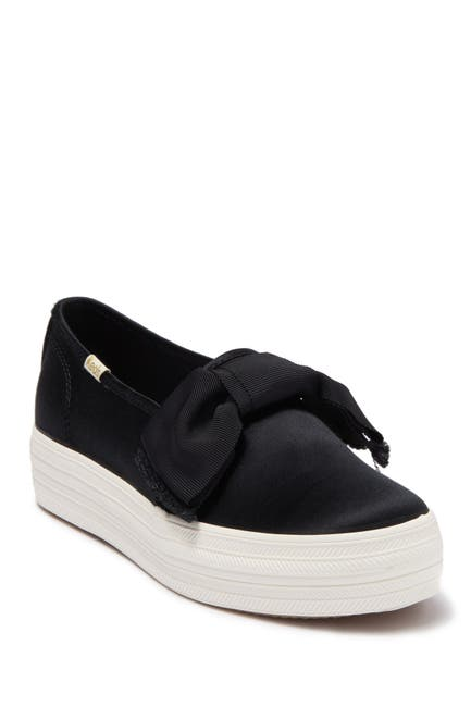 Image of Keds x kate spade new york triple decker bow satin sneaker