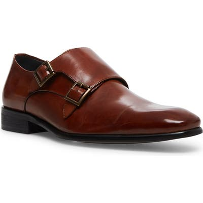 Steve Madden Beaumont Double Monk Strap Shoe- Brown