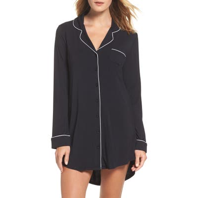 Nordstrom Lingerie Moonlight Nightshirt, Black