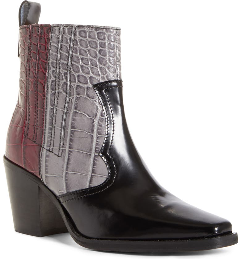 GANNI Western Boot, Main, color, PORT ROYALE