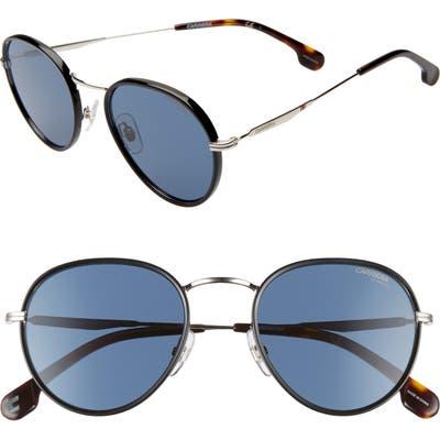 Carrera Eyewear 52Mm Round Sunglasses - Palladium Blue