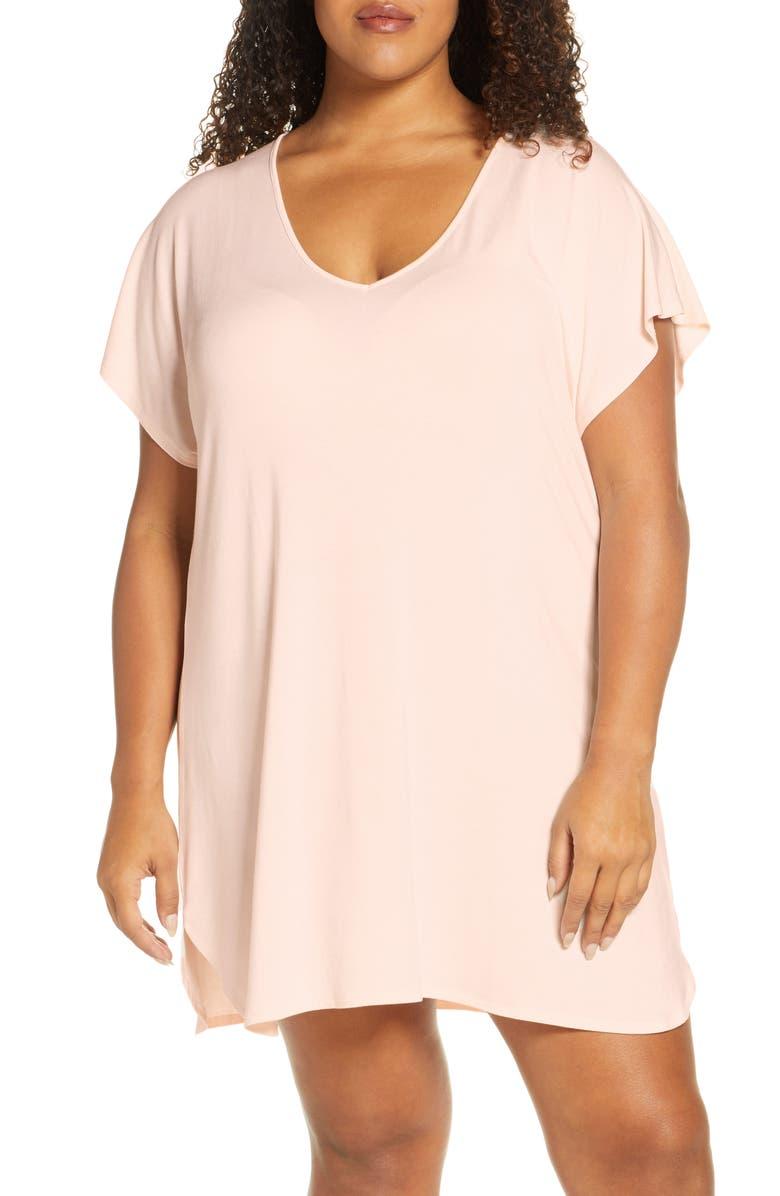 NORDSTROM Lingerie Moonlight Sleep Shirt, Main, color, PINK ANGEL