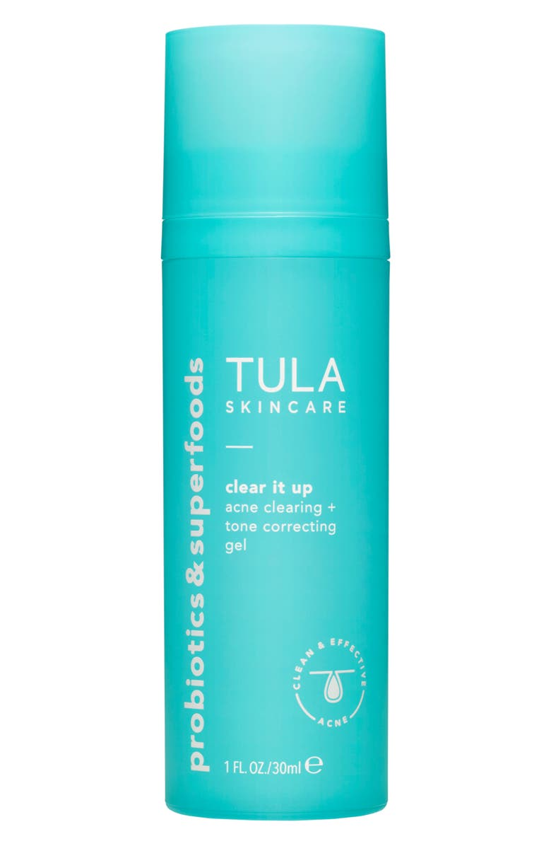 TULA PROBIOTIC SKINCARE Acne Clear It Up Acne Clearing + Correcting Gel, Main, color, NO COLOR