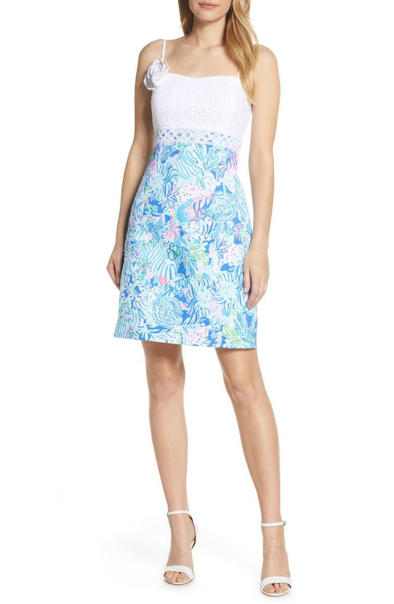 LILLY PULITZER<SUP>®</SUP> Liz Dress, Main, color, COASTAL BLUE LION AROUND