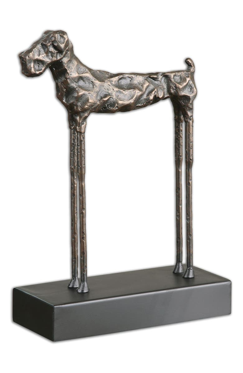 UTTERMOST Maximus Dog Figurine, Main, color, BRONZE