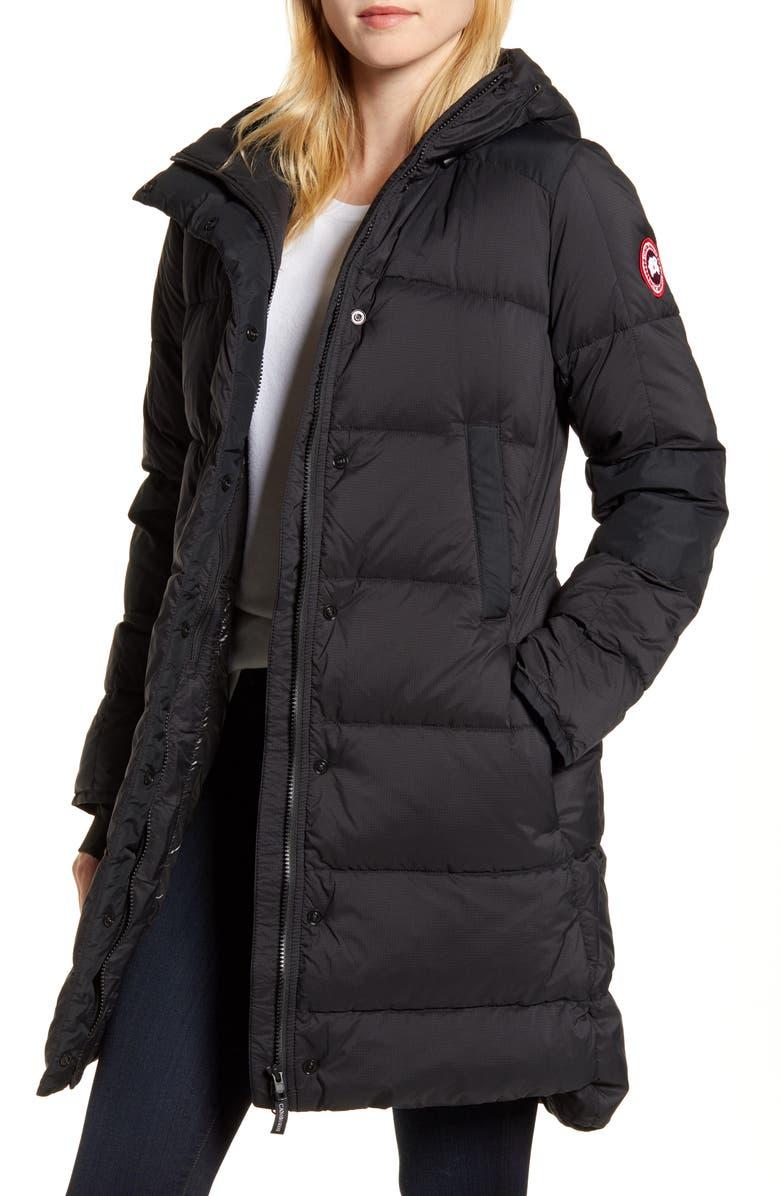CANADA GOOSE Alliston Packable Down Coat, Main, color, BLACK