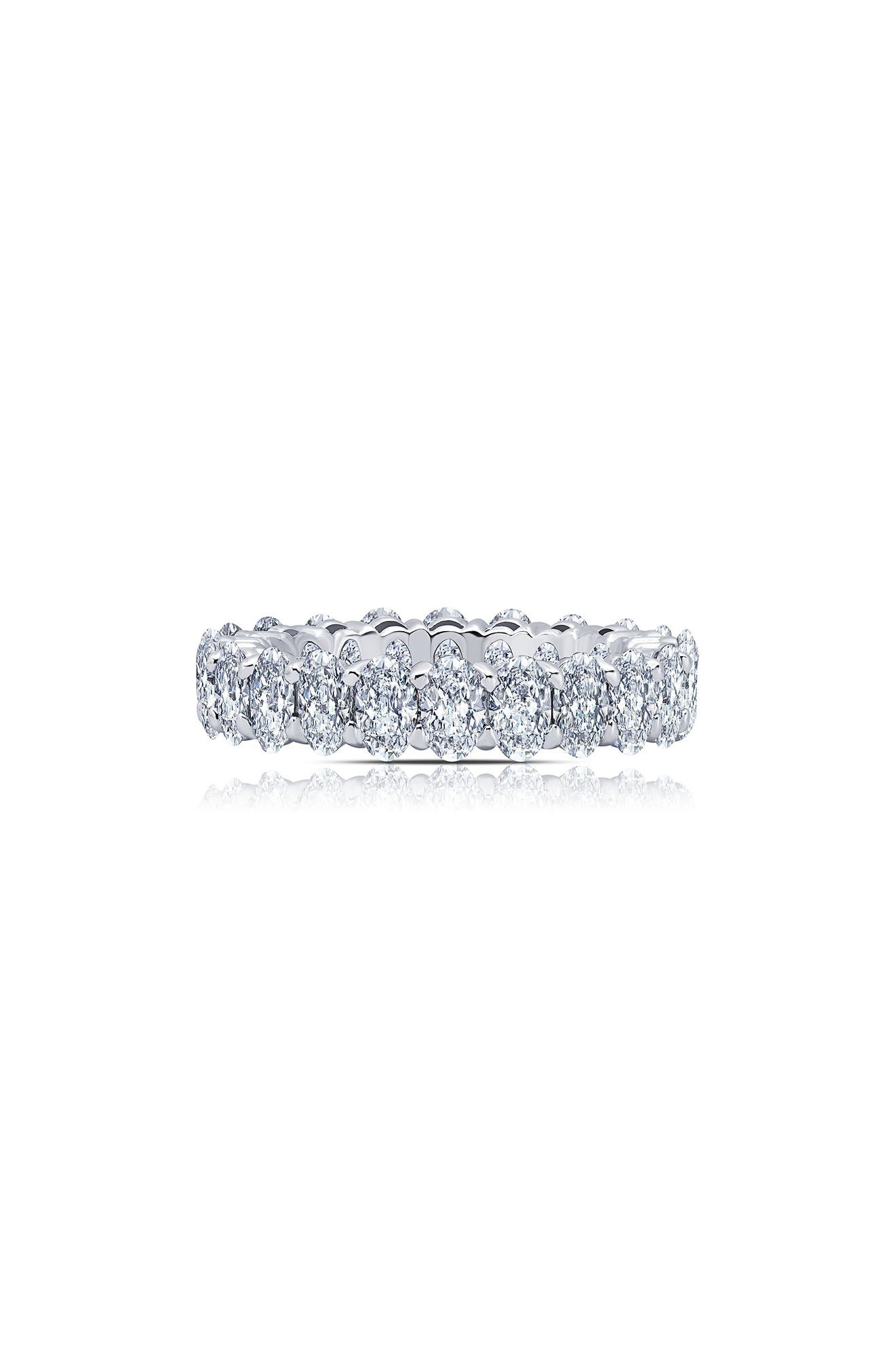 Simulated Diamond Eternity Band Ring