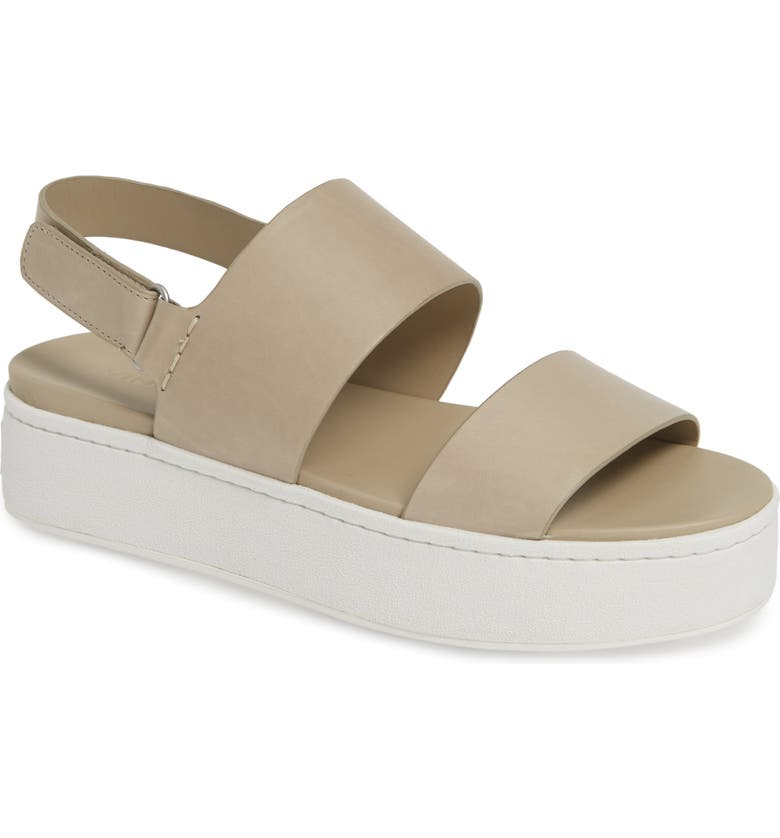 VINCE Westport Platform Sandal, Main, color, LIGHT STRAW