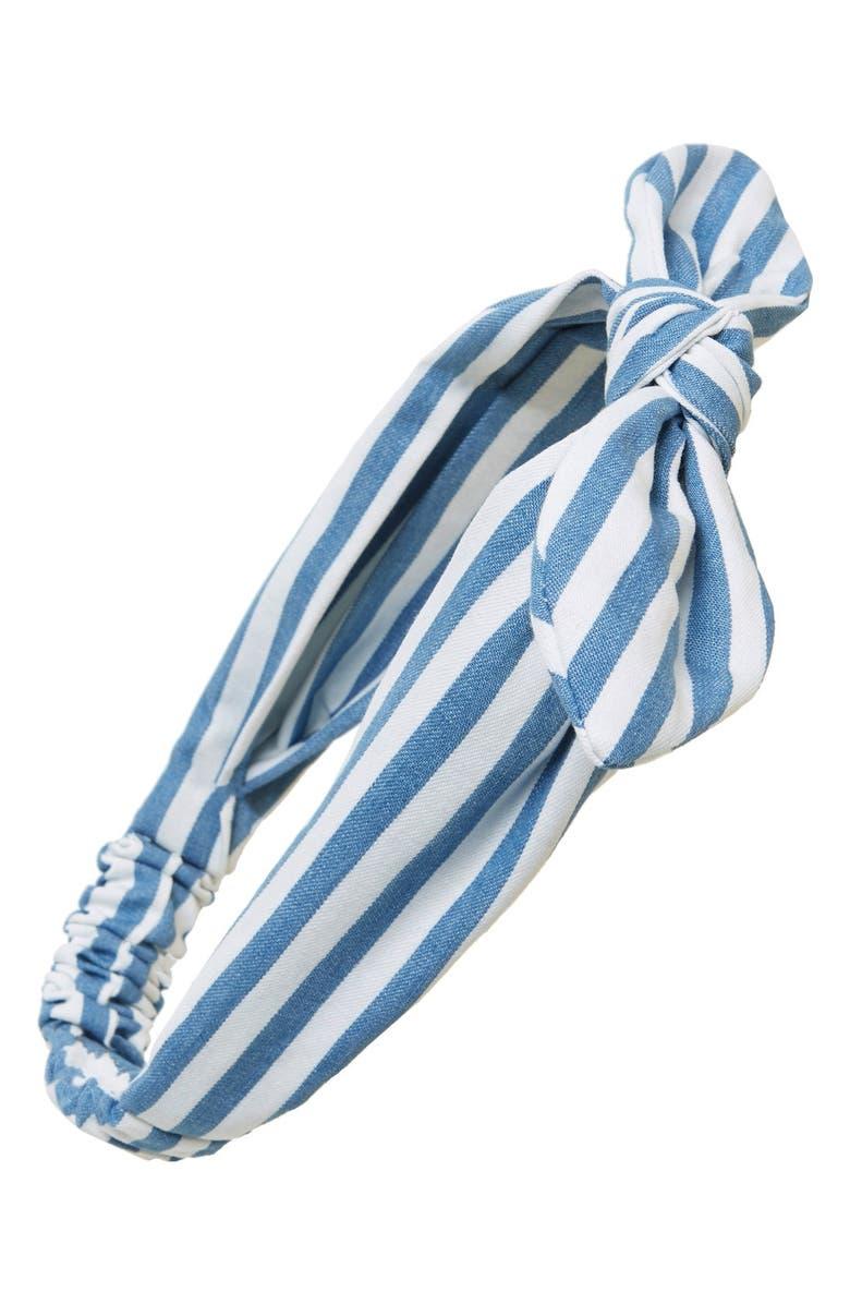 CARA 'Regatta' Stripe Head Wrap, Main, color, 400