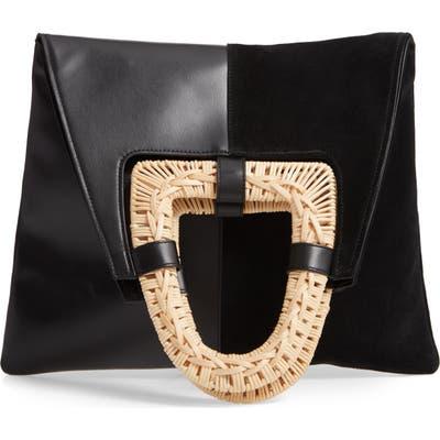 Ulla Johnson Caletha Leather Convertible Satchel - Black