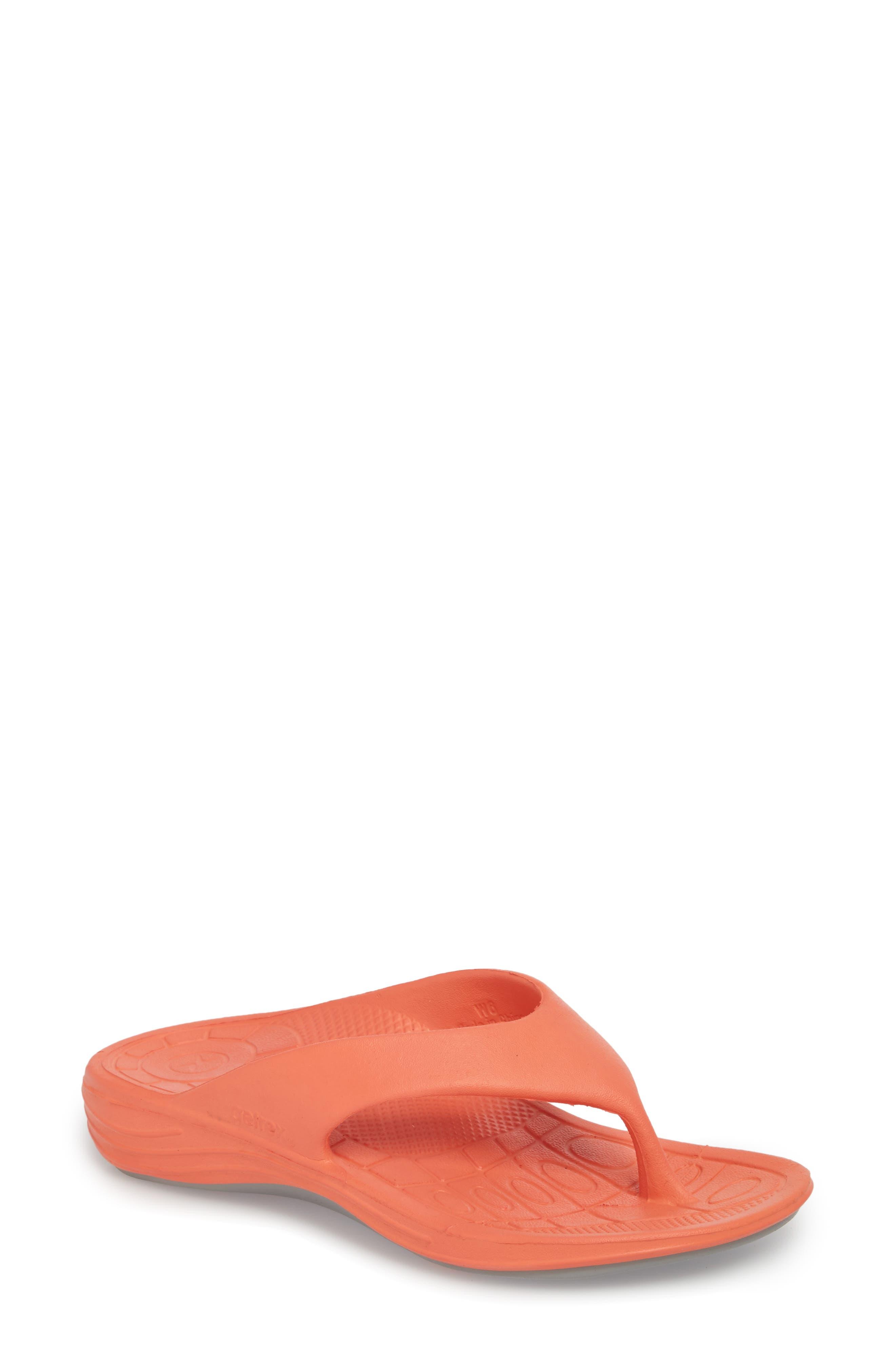 Aetrex Lynco Flip Flop, Orange