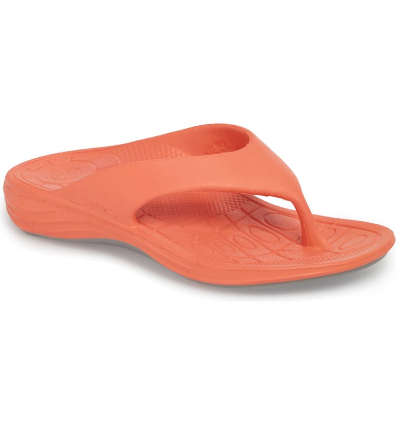 AETREX Lynco Flip Flop, Main, color, CORAL