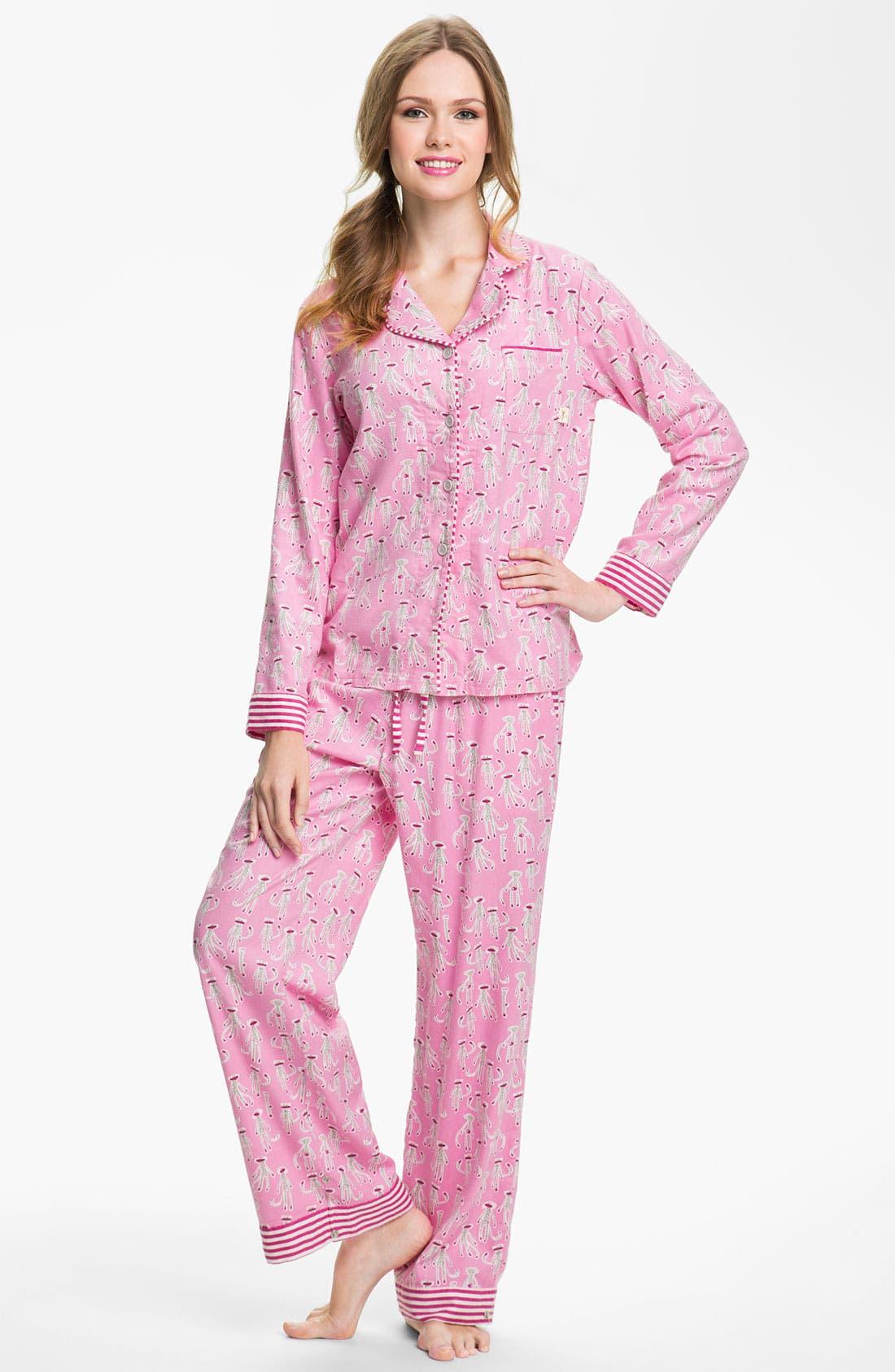 ,                             Flannel Pajamas,                             Main thumbnail 82, color,                             681
