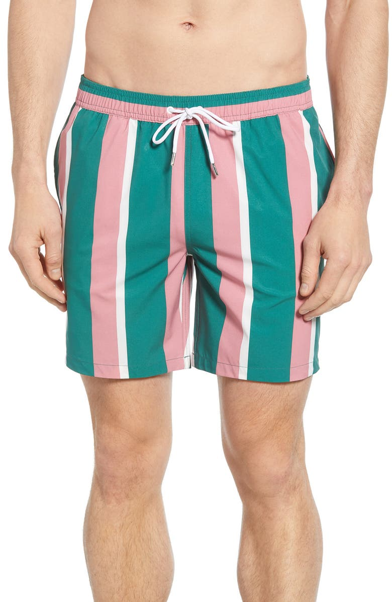 BONOBOS E-Waist 7-Inch Swim Trunks, Main, color, BIG SIMPLE STRIPE
