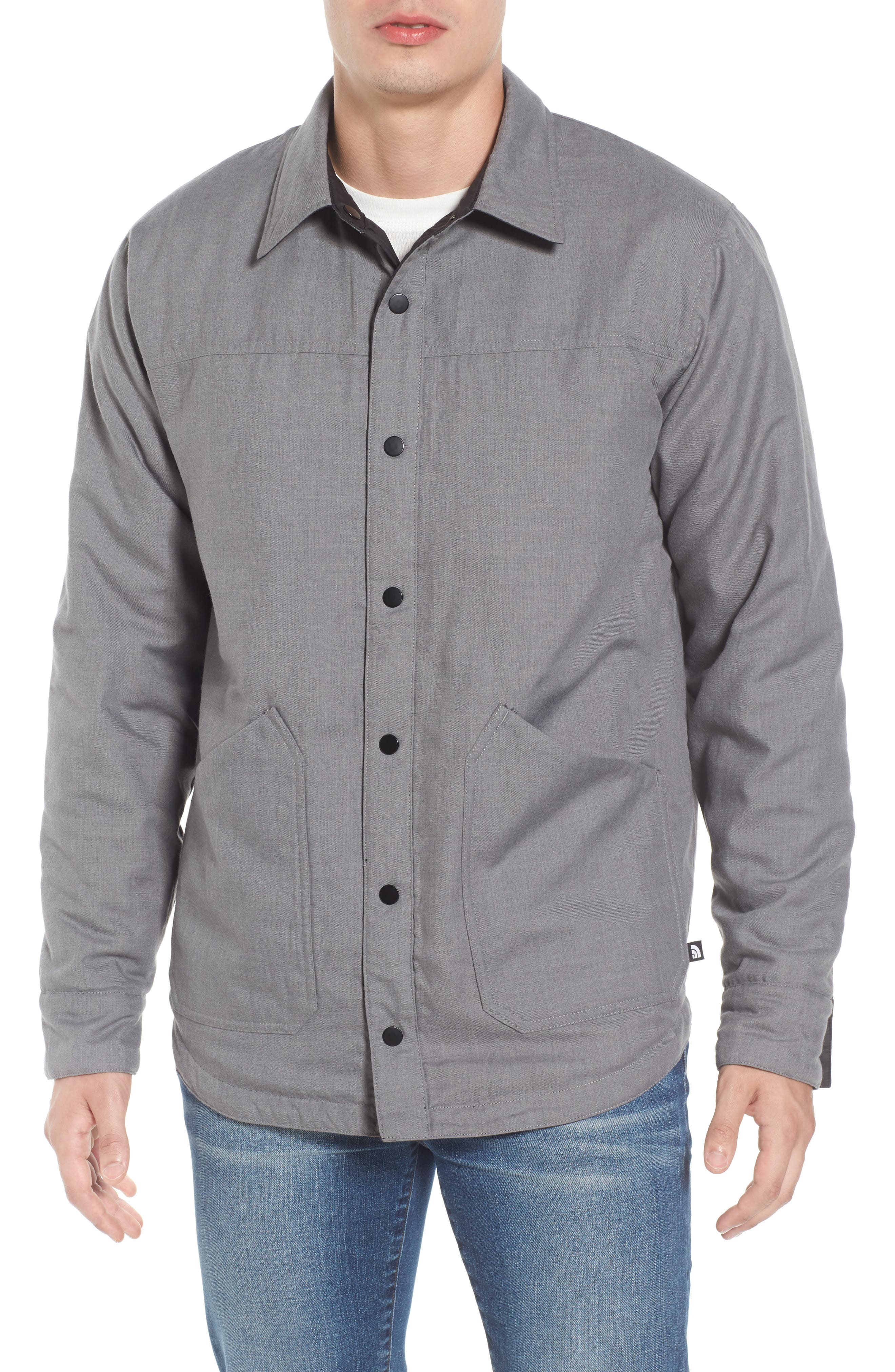 ,                             Fort Point Insulated Reversible Shirt Jacket,                             Alternate thumbnail 4, color,                             001