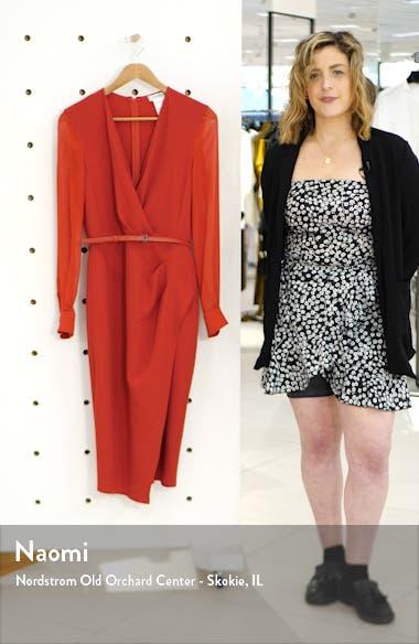 Manuel Long Sleeve Faux Wrap Dress, sales video thumbnail