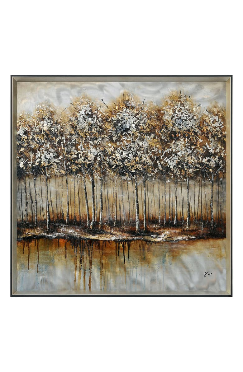 RENWIL Metallic Forest Wall Art, Main, color, 200