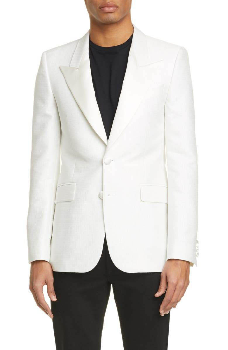 GIVENCHY Geometric Dinner Jacket, Main, color, NATURAL