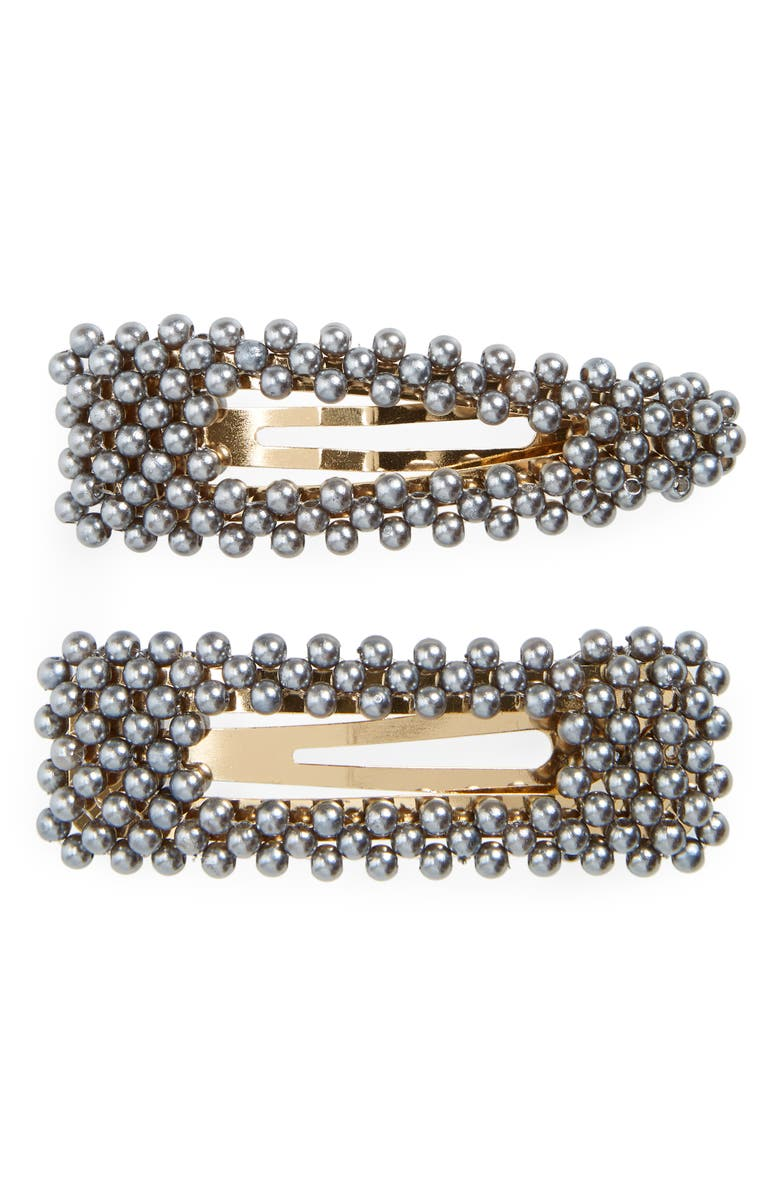 BAUBLEBAR Scarlett Set of 2 Hair Clips, Main, color, 001