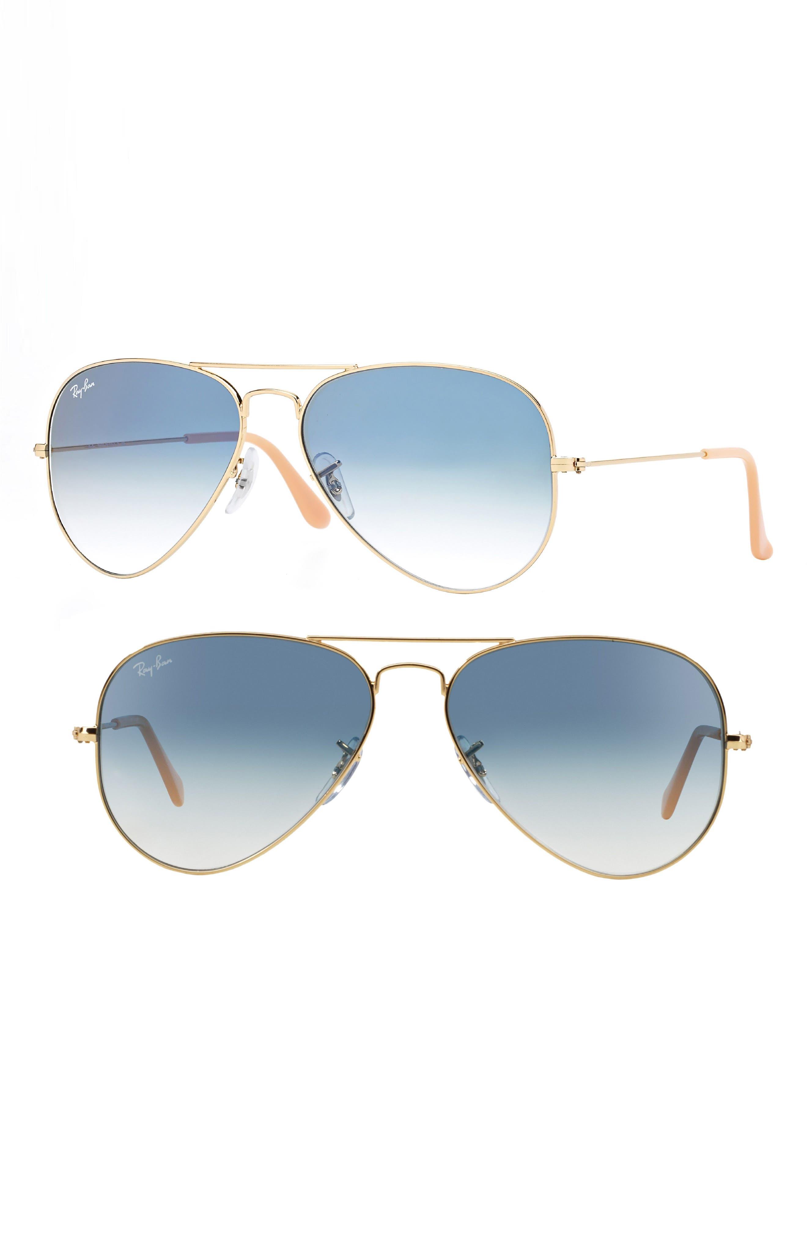 Ray-Ban Small Original 55Mm Aviator Sunglasses - Blue Grd