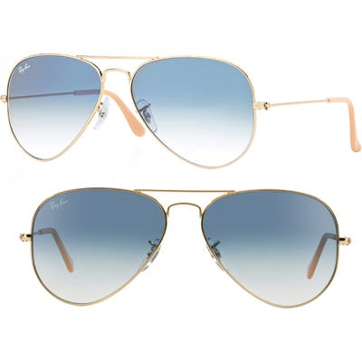 Ray-Ban Small Original 55Mm Aviator Sunglasses - Blue Grd