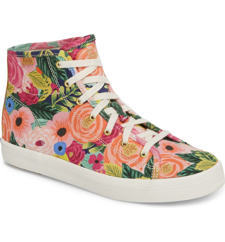 KEDS<SUP>®</SUP> x Rifle Paper Co. Kickstart Julie High Top Sneaker, Main, color, 650