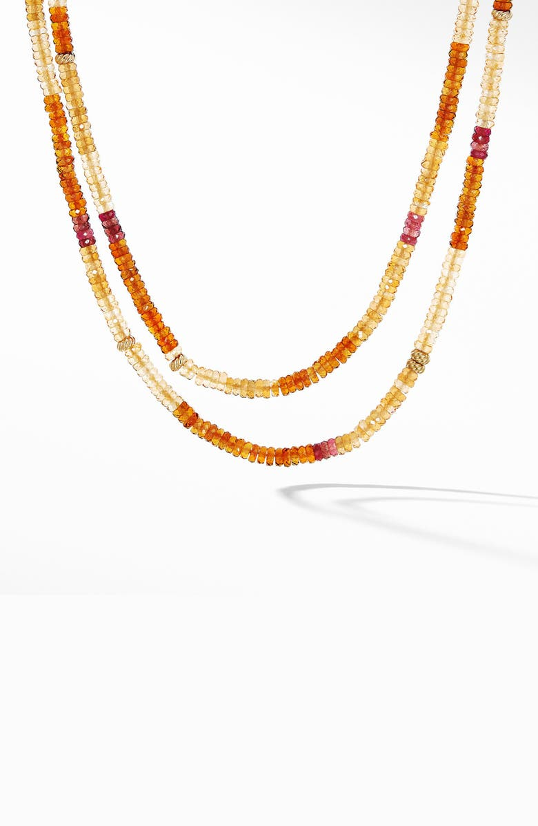 DAVID YURMAN Tweejoux Necklace in 18K Gold, Main, color, MADEIRA CITRINE