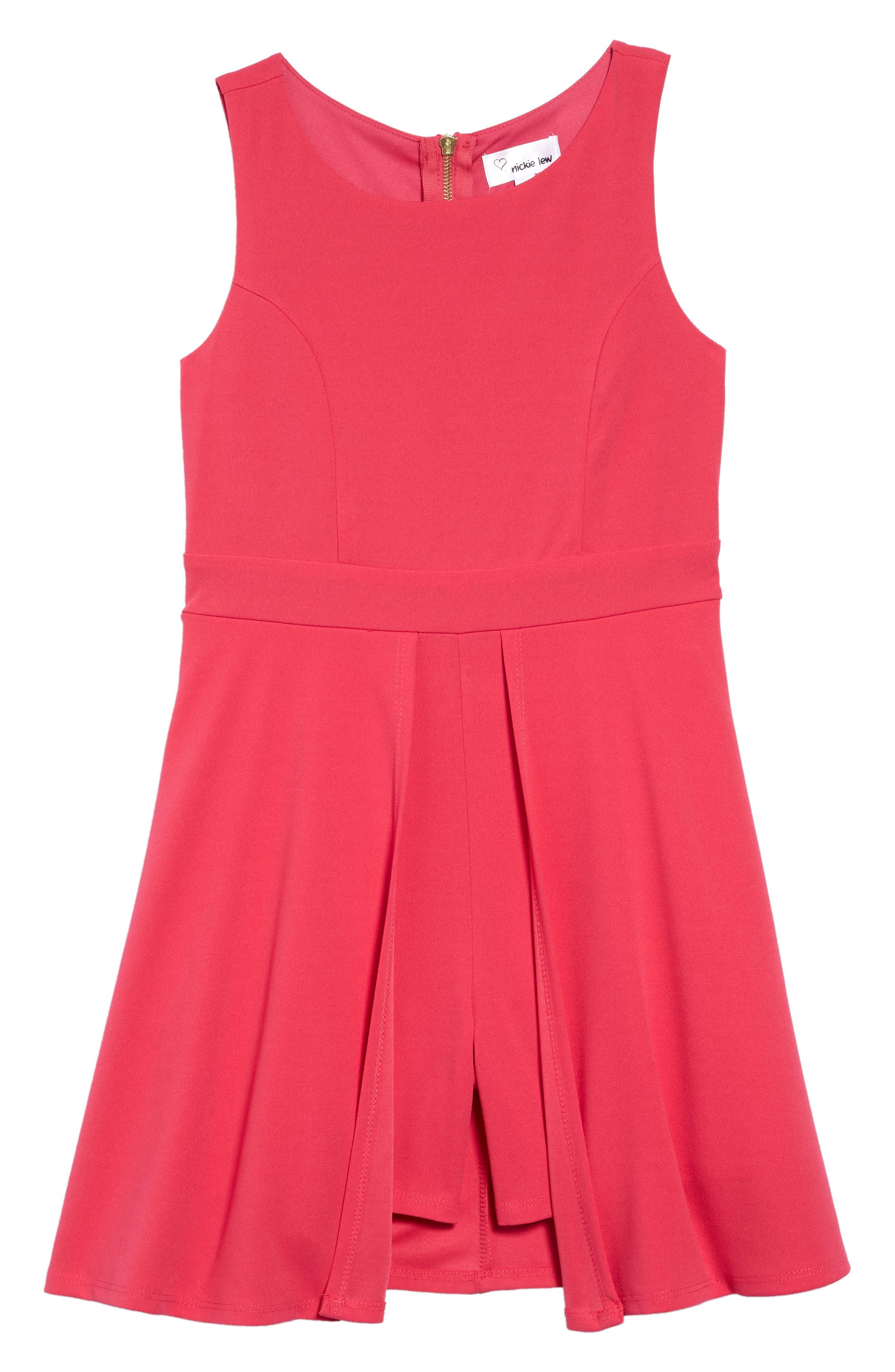 ,                             Love Nickie Lew Romper Dress,                             Main thumbnail 1, color,                             FUCHSIA