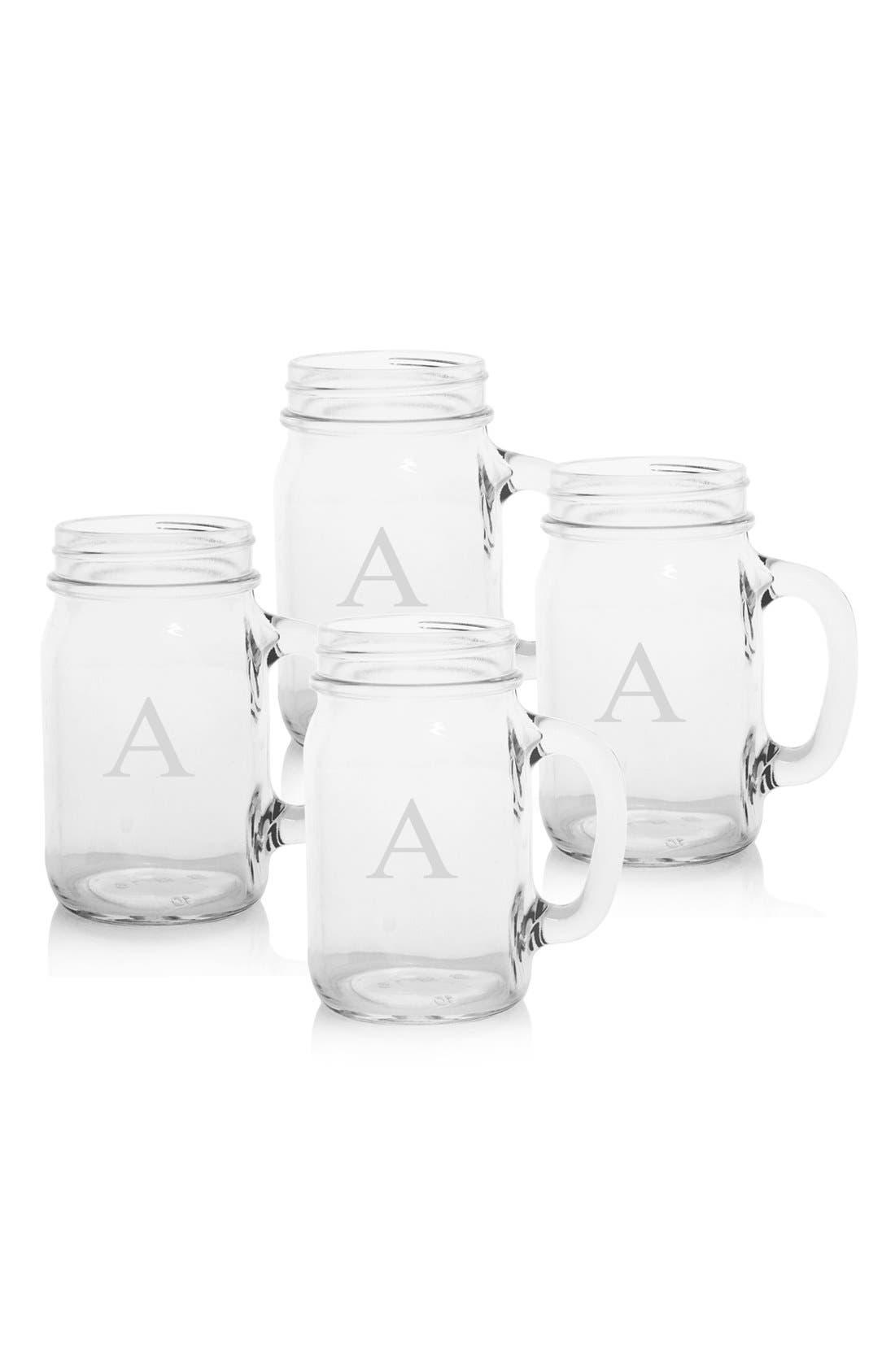 ,                             Monogram Glass Drinking Jars,                             Main thumbnail 8, color,                             960