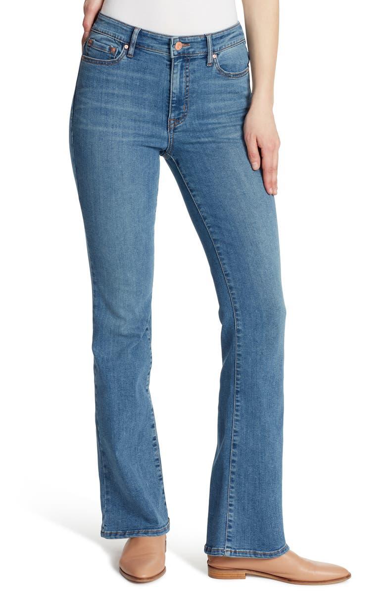 ELLA MOSS High Waist Bootcut Jeans, Main, color, LOTUS