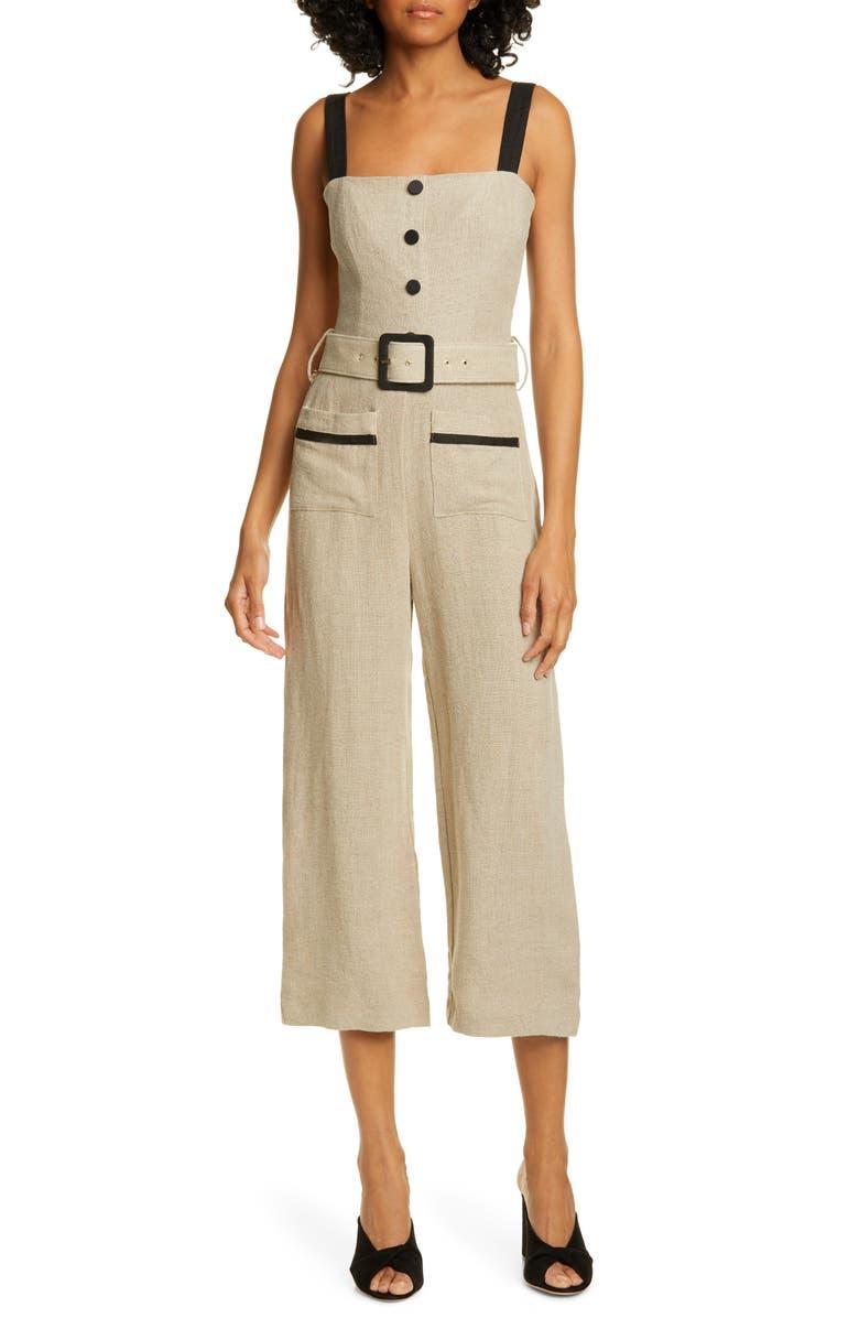 STAUD Lampone Crop Jumpsuit, Main, color, 250