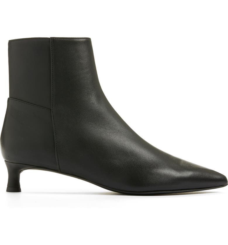 EVERLANE The Editor Pointed Toe Kitten Heel Boot, Main, color, 001
