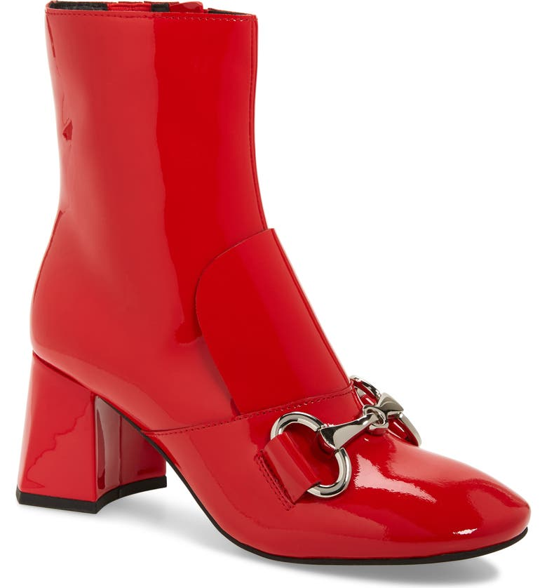 JEFFREY CAMPBELL Deneuve Bootie, Main, color, RED PATENT LEATHER