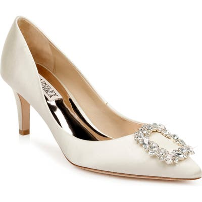 Badgley Mischka Carrie Crystal Embellished Pump- Ivory