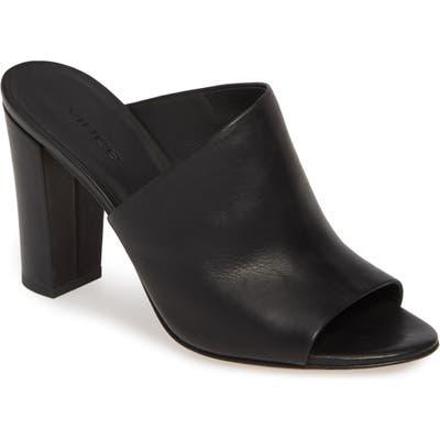 Vince Hanna Block Heel Sandal, Black