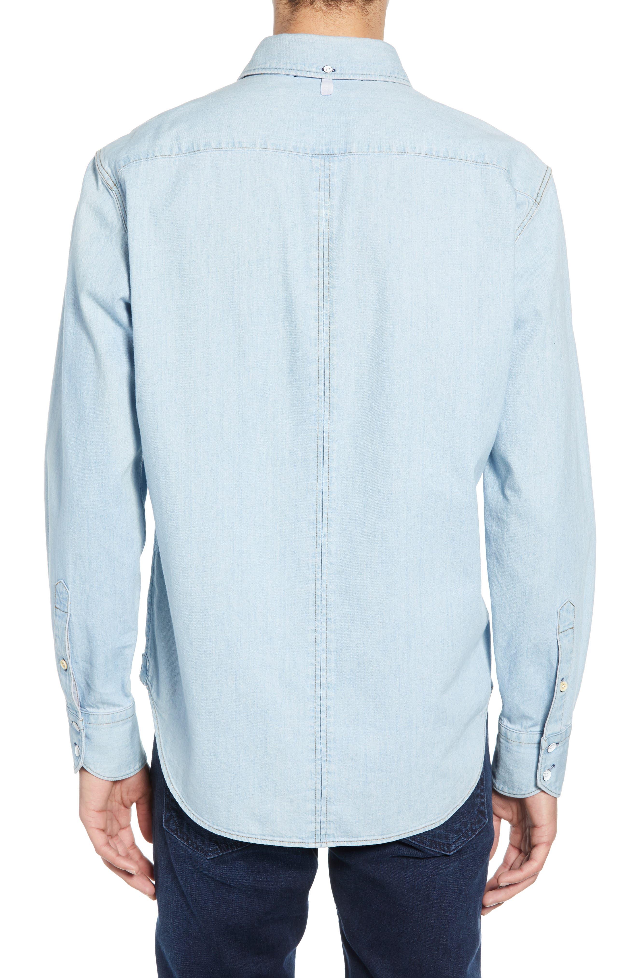 ,                             Fit 3 Regular Fit Denim Shirt,                             Alternate thumbnail 3, color,                             DUSK