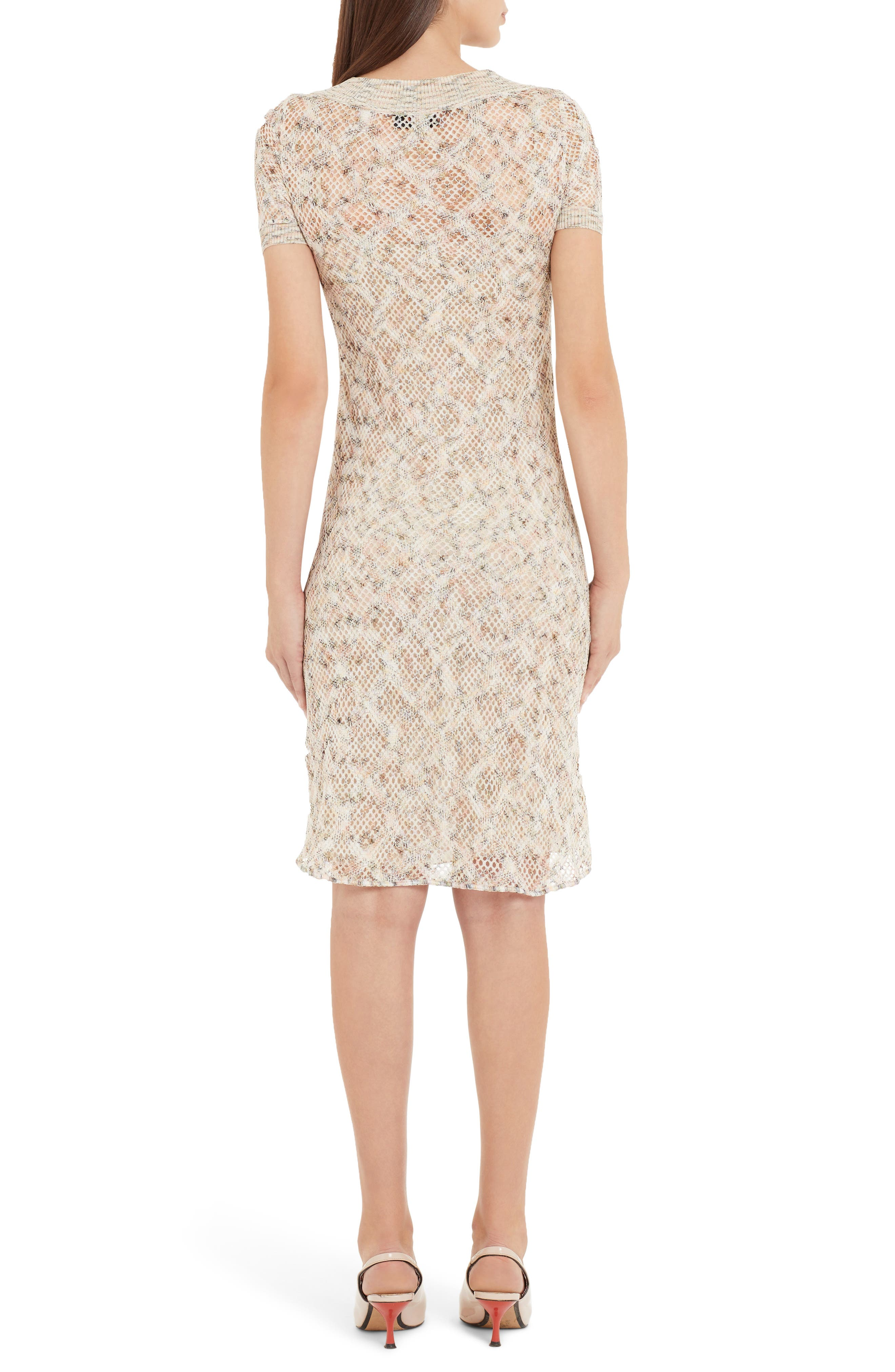 ,                             Cotton Pointelle Sweater Dress,                             Alternate thumbnail 2, color,                             BEIGE