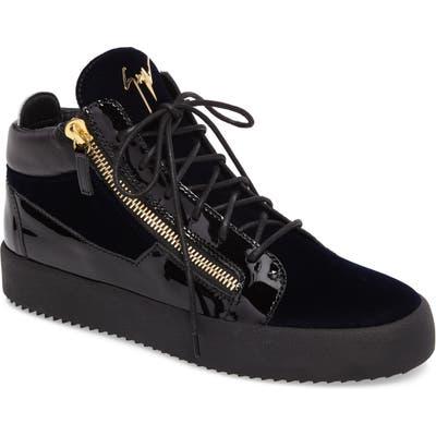 Giuseppe Zanotti High-Top Sneaker, Blue