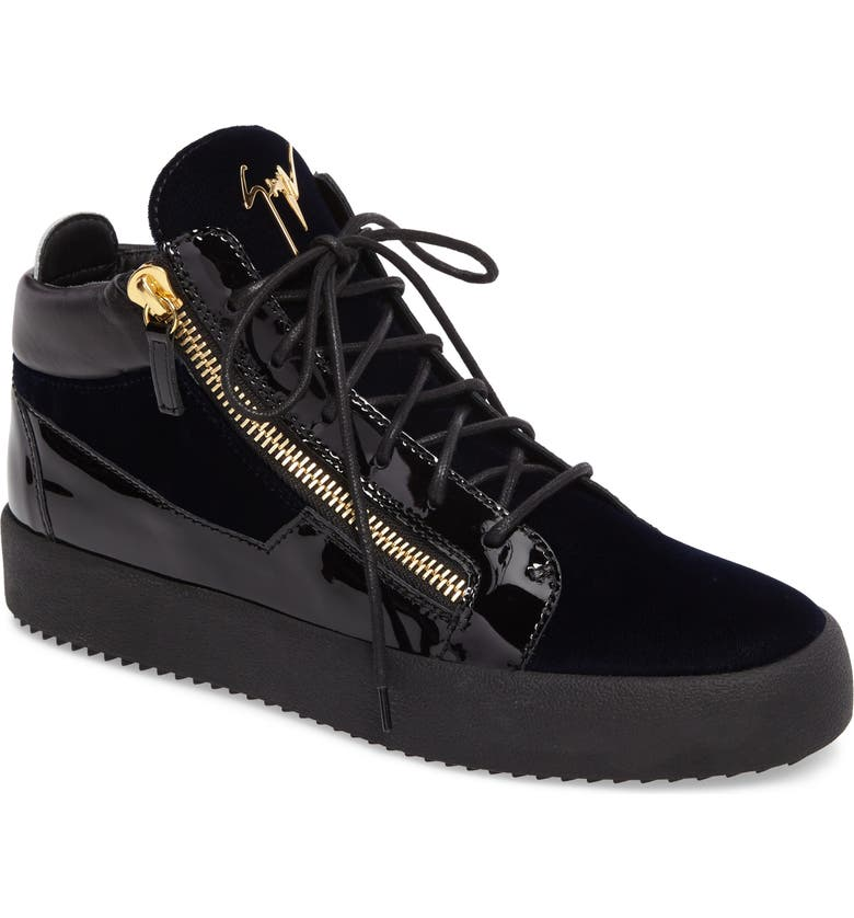 GIUSEPPE ZANOTTI High-Top Sneaker, Main, color, NAVY