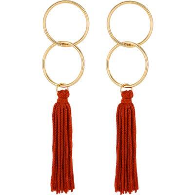 Panacea Circle Tassel Earrings