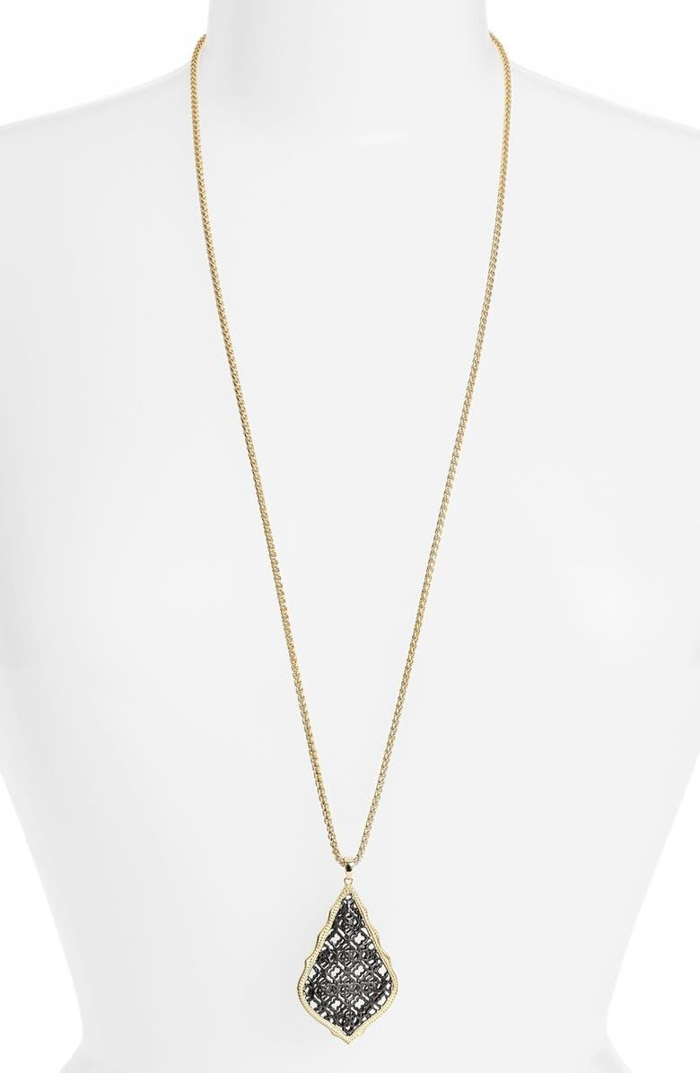 KENDRA SCOTT 'Aiden' Pendant Necklace, Main, color, 020