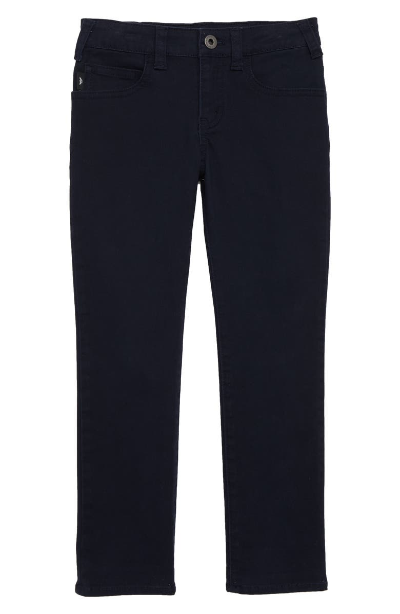 ARMANI JUNIOR Straight Leg Pants, Main, color, SOLID BLUE NAVY