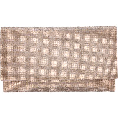 Nina Crystal Clutch - Metallic