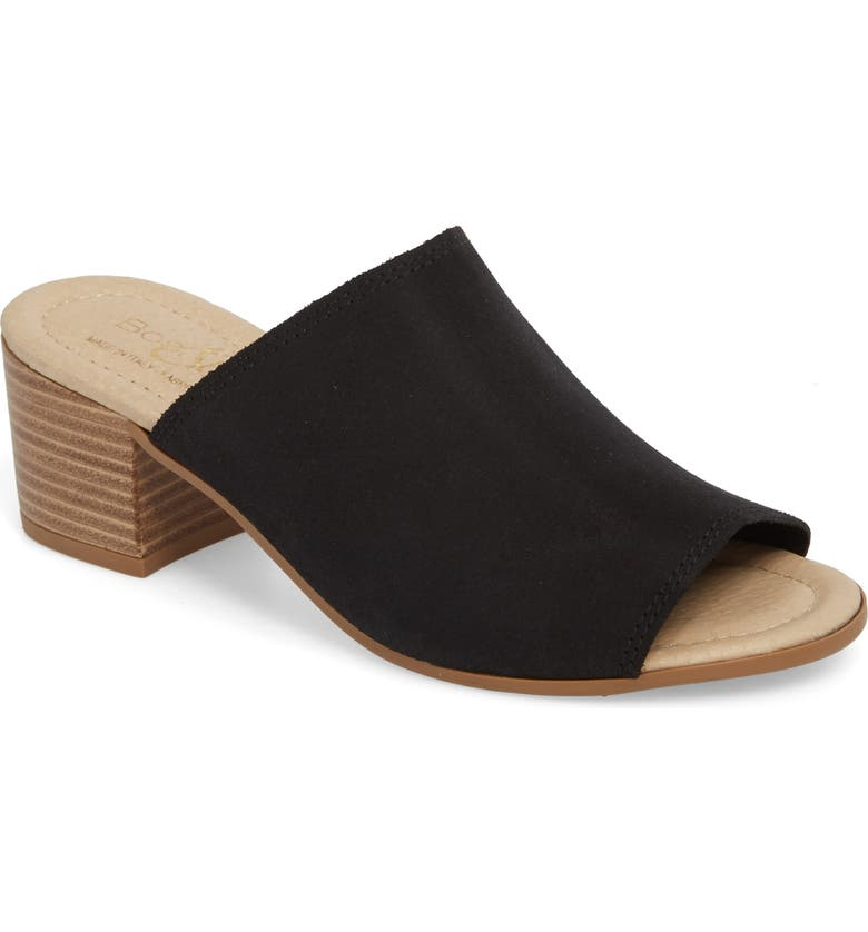 BOS. & CO. Fawn Mule, Main, color, BLACK CROSTA LEATHER