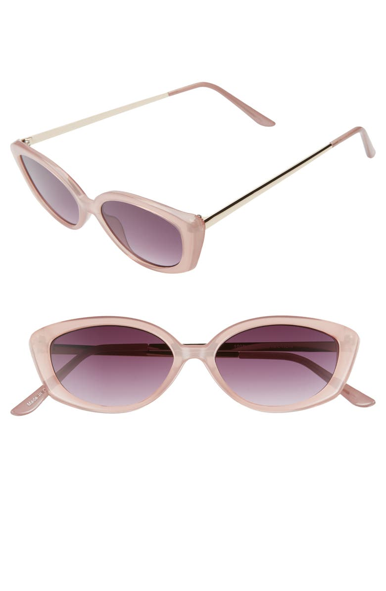 BP. 51mm Cat Eye Sunglasses, Main, color, ROSE/GOLD/PINK