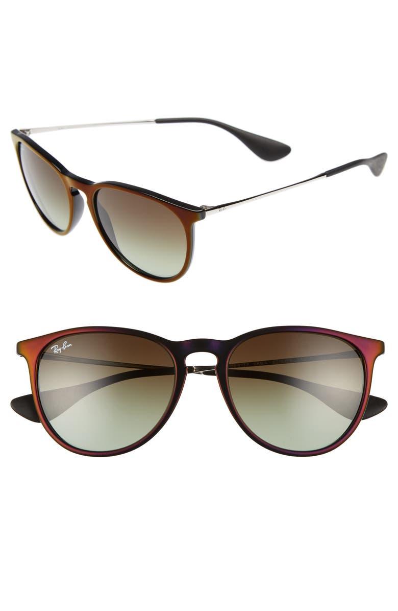 RAY-BAN Erika Classic 54mm Sunglasses, Main, color, 001