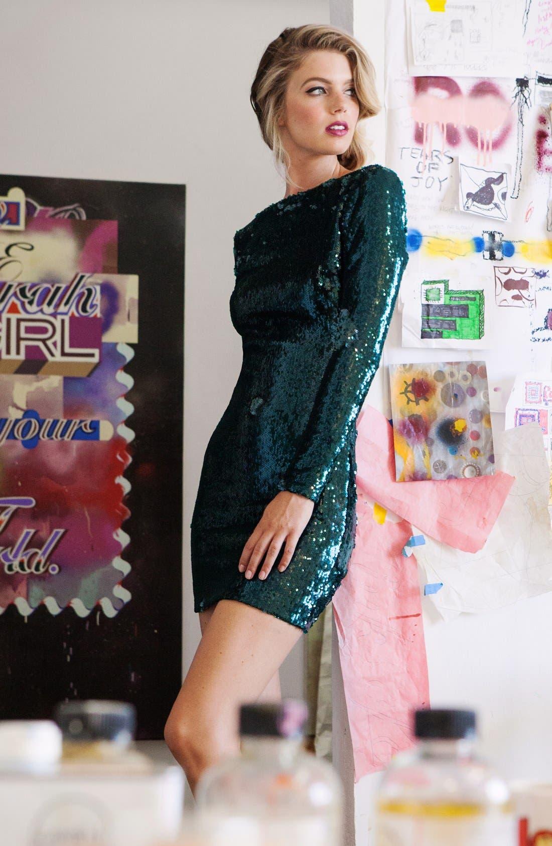 ,                             Lola Sequin Minidress,                             Alternate thumbnail 17, color,                             302