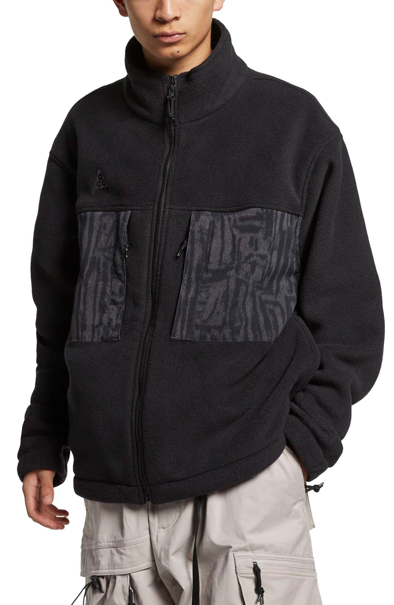 Nike Acg Fleece Jacket, Black