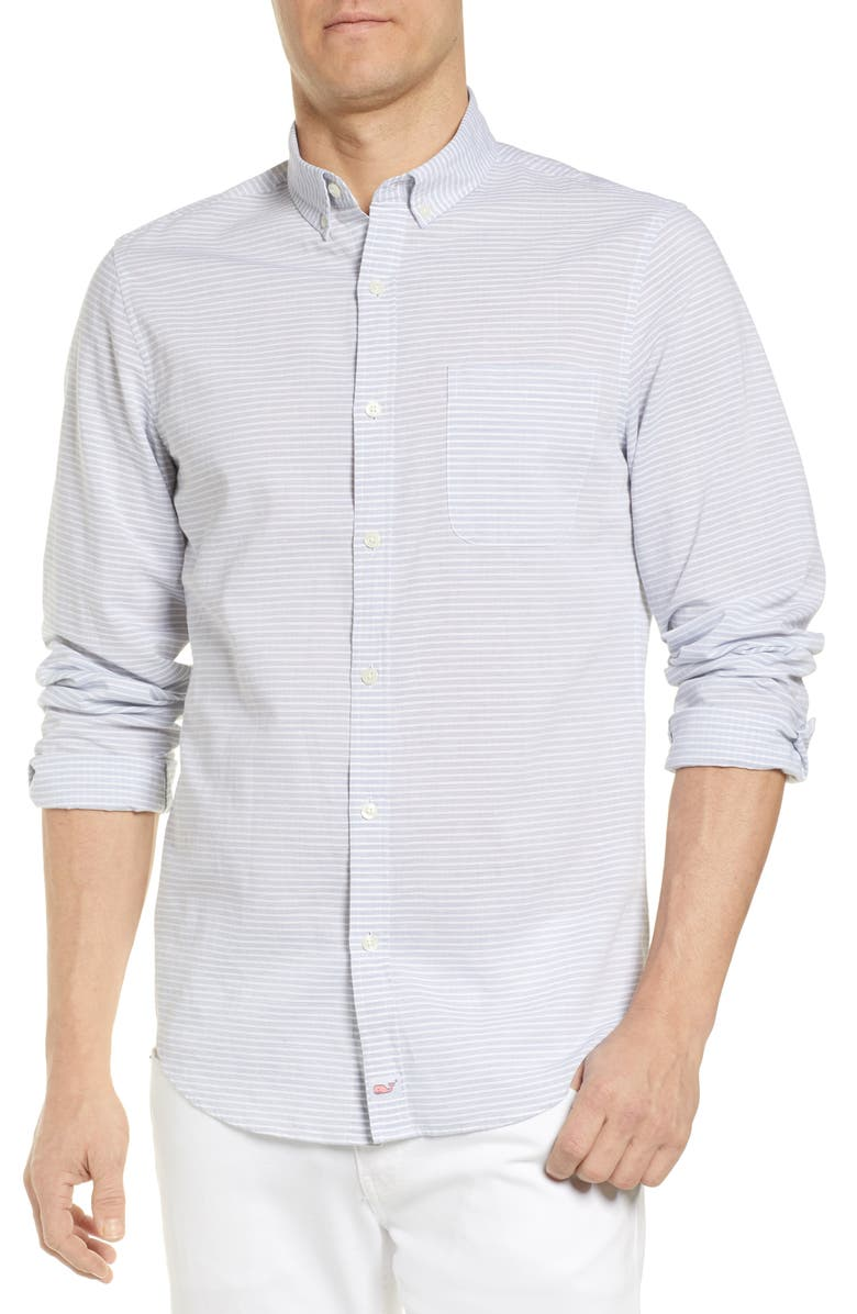 VINEYARD VINES Murray Slim Fit Soggy Dollar Stripe Shirt, Main, color, 461